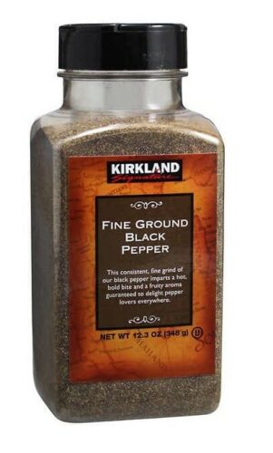 🔥 Kirkland Signature Fine Ground Black Pepper 12.3 oz 🔥