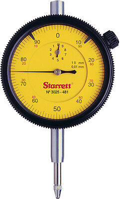 Starrett 3025 0-100 0.01mm dial test indicator DTI clock gauge 3025-481