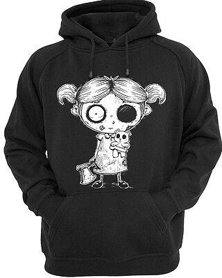 Undead Girl Mens Womens hoody goth rock punk burton emo zombie Hoodie