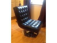 Barcelona style swivel chair