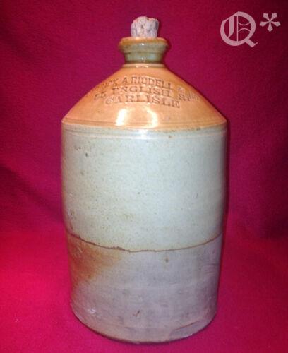 1707 Stoneware Jug CARRICK A RIDDELL & Co