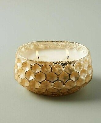Anthropologie Candle ILLUME Spruce Nectar HONEYCOMB Textured Glass 92 Hr XL NWT
