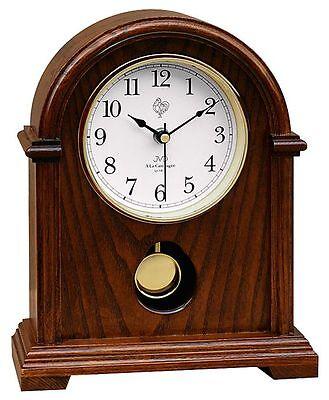 Klassische Tischuhr Kaminuhr mit Pendel Uhr Westminster Stundenschlag Eiche