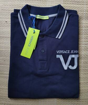 Versace Jeans men's navy polo-shirt size L(50IT) - Slim Fit, embroidered logo