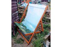 Designer deckchair for two