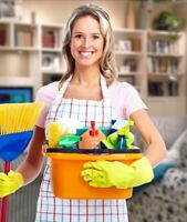 Cleaning woman available inside the Durham Region