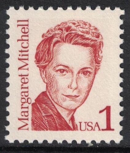 Scott 2168- 1c Margaret Mitchell, Great Americans- MNH 1986- unused mint stamp
