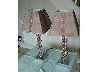 Laura Ashley bedside lamps (pair)