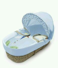 Kinder valley blue kite moses basket. Brand new in sealed packs. 3 left in stock.