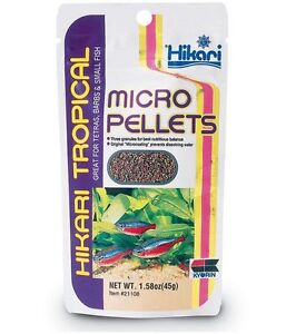 Hikari Tropical Micro Pellets 45g Aquarium Fish Food for Tetra Barbs small fish