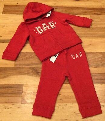 - Baby Gap Girls 6-12 Month Outfit. Red Heart Sweatshirt Hoodie & Sweatpants. Nwt