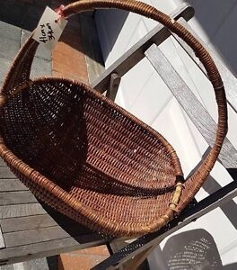 Retro Wicker Basket with Handle Burwood Burwood Area Preview