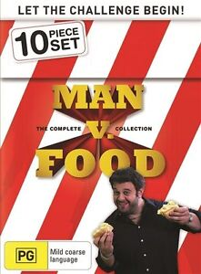 MAN Vs FOOD - THE COMPLETE COLLECTION (10 DVD SET) BRAND NEW!!! SEALED!!!
