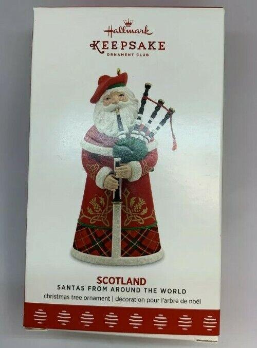 Hallmark 2017 Keepsake Santas From Around The World Scotland Ornament *VERY RARE