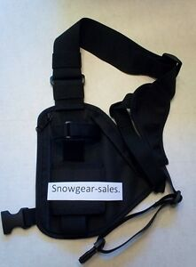 Hands Free Radio chest harness for Pro &UHF radios Black