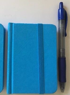 "New Small Blue Hardcover Pocket Notebook Journal 96 Pages 4.5 x 3"" Ruled"