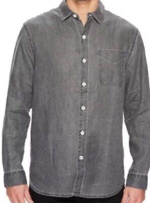 Nwt Tommy Bahama Sea Glass Breezer Ls Linen Mens Shirt  Coal  Big   Tall