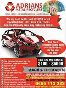 CA$H FOR CAR$: $150 UTES, VANS, 4WDS $350+- Molendinar Gold Coast City Preview