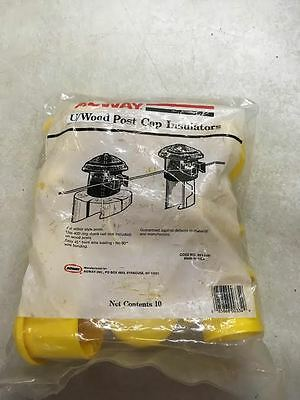 U Or Wood Post Cap Insulator 30 Count