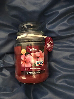 ISLAND BEACH BOUQUET  18oz LARGE JAR CANDLE(BETTER HOMES (Best Beach Scented Candle)
