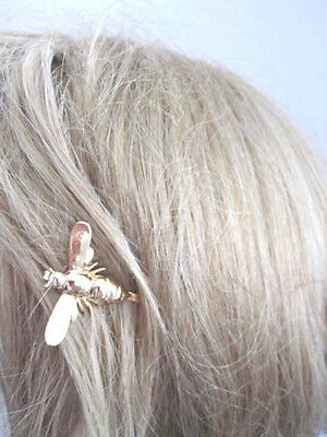 bumble bee gold plated hair clip set of 2