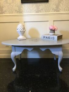 Dove Gray French Provincial Wood Coffee Table