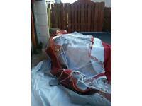 Size 12 925-950 cm burgandy dorema awning