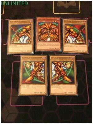 All Legal 5 CARD SET EXODIA THE FORBIDDEN ONE UNLIMITED MINT LDK2 YUGIOH ()