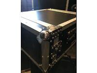 6U Rack Twin Door Flightcase DJ Sound Equipment Flight Case Box