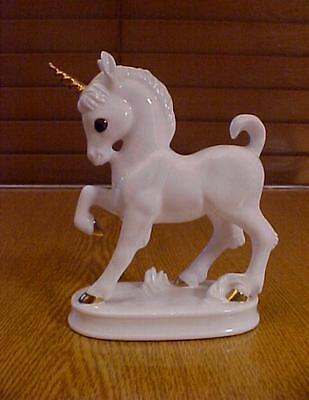 Royal Osborne White China Figure - UNICORN - With Gold Highlights TMR03210