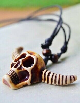 Hand Made Fashion Skull Skeleton Devil Pendant Necklace Men Women Gift Him Her