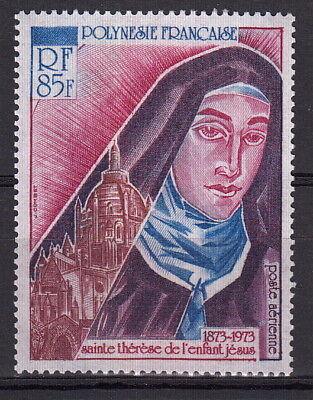 POLINESIA FRANCESE 1973 PA Yvert A71 100° Nascita Santa Teresa Bambin Gesù MNH**