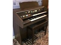 Twin keyboard organ