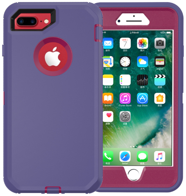 For Apple iPhone 6S 7 8 Plus Hybrid Rugged Shockproof Hard Protective Case Cover