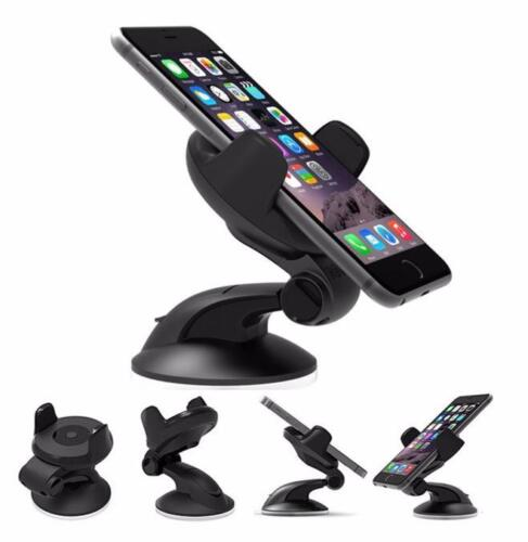 $3.67 - Universal 360° Rotation Car Mount Cell Phone Holder GPS Stand One Touch Black