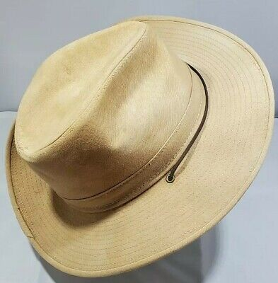 Hatquarters By Henschel size L men's made in USA.Safari outback  with chin strap