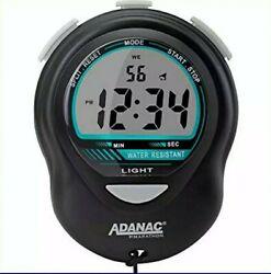 ADANAC Glow Digital Stopwatch Timer W Back Light. Extra LARGE Display Jumb Black