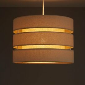 Brown fabric lamp shade 3 tier, 35cm diameter, as new condition. RRP £30