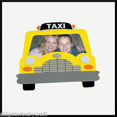 Taxi Cab Magnet Photo Frame Craft Kit for Kids Self-Adhesive City Fun ABCraft