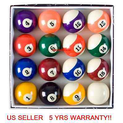 "E65 Billiard 16Pcs Pool Ball Deluxe Set Standard Size 2-1/4"" Traditional Style"