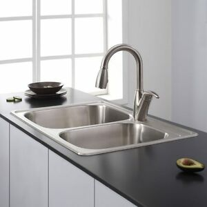 Double Bowl Top Mount - Stainless Steel Sink London Ontario image 1