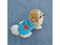 New Arrival Summer Cute Dog Pet Vest Puppy Printed Cotton T Shirt XS