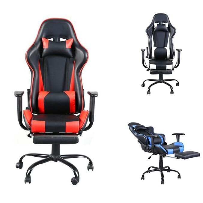 Adjustable Home Office Gaming Computer Chair Reclining Seat Rotatable US