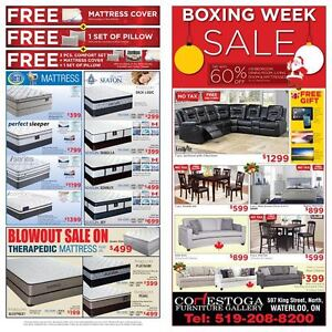 BOXING WEEK SALE SOFA, SECTIONAL, BEDROOM FREE TV, TABLET, PHONE