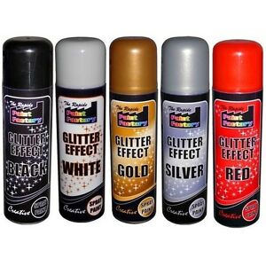 Glitter effect spray paint can decorative creative crafts for Spray glitter for crafts