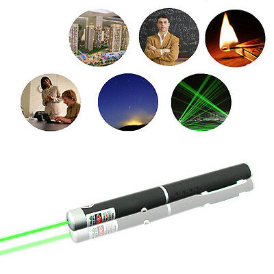 Flashlight Visible Green Beam Light 532nm Lazer Laser Pointer Pen Power 5mw