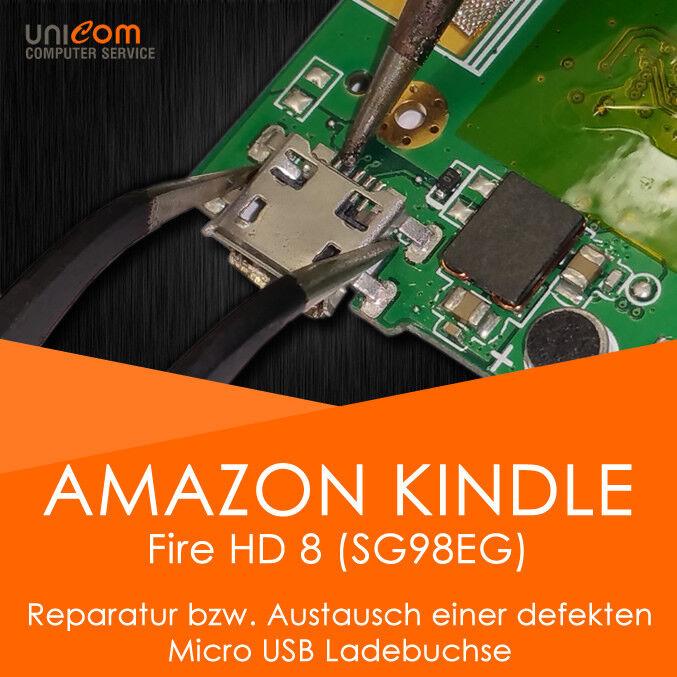 REPARATUR Austausch Micro USB Ladebuchse Port Amazon Kindle Fire HD 8 SG98EG