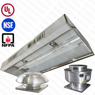 10 Ft Ul Restaurant Commercial Kitchen Makeup Air Hood Captiveaire System