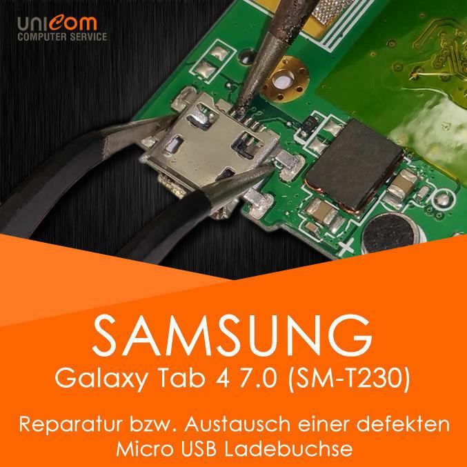 REPARATUR Austausch Micro USB Ladebuchse Buchse Samsung Galaxy Tab 4 7.0 SM-T230