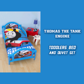 Thomas the Tank Engine - Toddlers Bed, Mattress and Duvet Set. Thomas